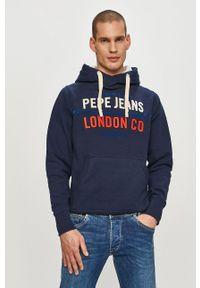 Pepe Jeans - Bluza Neville. Okazja: na co dzień. Kolor: niebieski. Wzór: nadruk. Styl: casual