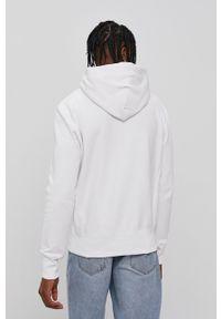 Champion - Bluza bawełniana. Okazja: na co dzień. Kolor: biały. Materiał: bawełna. Wzór: aplikacja. Styl: casual