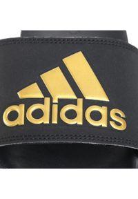Czarne klapki na basen Adidas casualowe, na co dzień