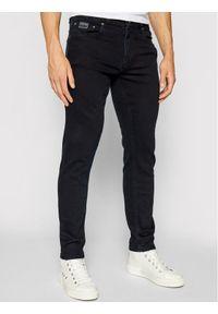 Versace Jeans Couture Jeansy Narrow 71GABCD1 Granatowy Straight Fit. Kolor: niebieski