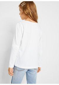 Biała bluzka bonprix z długim rękawem, na co dzień, casualowa