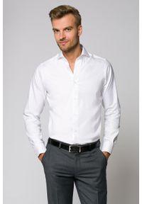 Biała koszula Lancerto w kolorowe wzory, wizytowa