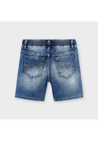 Mayoral Szorty jeansowe 3227 Granatowy Regular Fit. Kolor: niebieski. Materiał: jeans