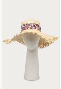 Kremowy kapelusz Liu Jo gładki