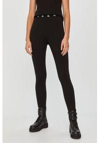Czarne legginsy Calvin Klein Jeans z aplikacjami