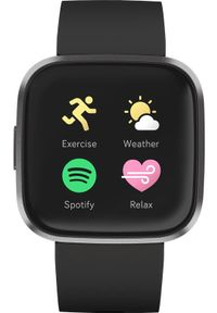 FITBIT - Smartwatch Fitbit Versa 2 Czarny (40-41-4069). Rodzaj zegarka: smartwatch. Kolor: czarny