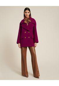 Luisa Spagnoli - LUISA SPAGNOLI - Dwurzędowa kurtka Salentina. Kolor: różowy, wielokolorowy, fioletowy. Materiał: poliamid, wełna