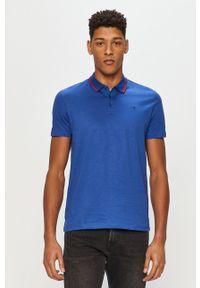 Niebieska koszulka polo Trussardi Jeans polo, krótka