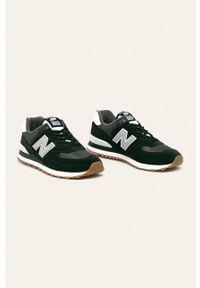 Czarne sneakersy New Balance na sznurówki, z cholewką, z okrągłym noskiem