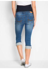 Niebieskie jeansy bonprix moda ciążowa, klasyczne, na lato