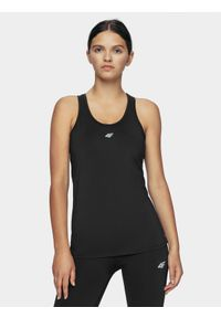 Czarna koszulka sportowa 4f bez rękawów, na fitness i siłownię