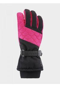 outhorn - Rękawiczki narciarskie damskie. Materiał: poliester, skóra, materiał, syntetyk. Sezon: zima. Sport: narciarstwo
