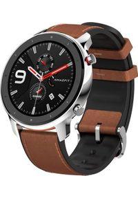 AMAZFIT - Smartwatch Amazfit GTR 47mm Brązowy (A1902-ST). Rodzaj zegarka: smartwatch. Kolor: brązowy