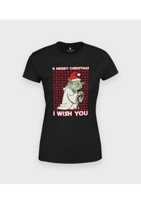 MegaKoszulki - Koszulka damska Yoda Christmas. Materiał: bawełna