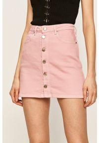 Różowa spódnica Pepe Jeans na co dzień, casualowa