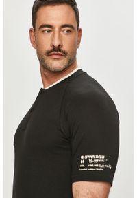 Czarna koszulka polo G-Star RAW krótka, polo