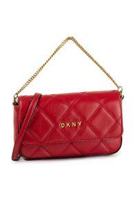 Czerwona torebka klasyczna DKNY klasyczna