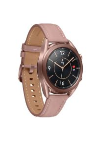 Brązowy zegarek SAMSUNG smartwatch, elegancki