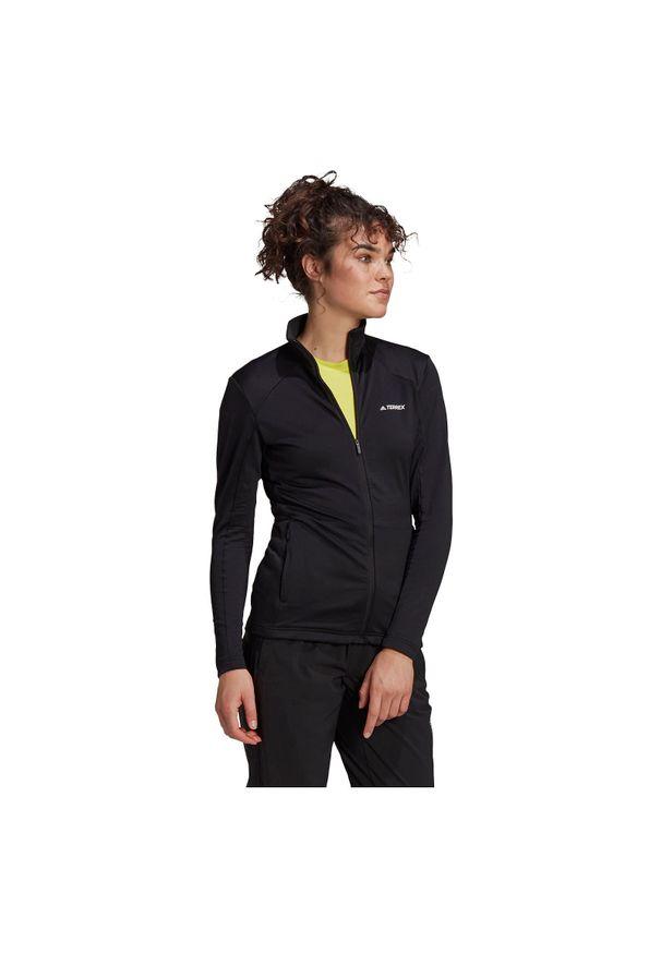 Adidas - Polar damski adidas Terrex FullZip Fleece GI7189. Materiał: polar
