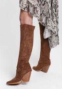 Renee - Brązowe Kozaki Darnielle. Kolor: brązowy