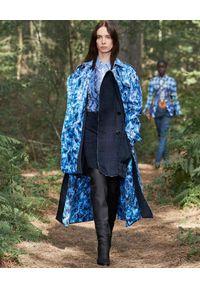 Burberry - BURBERRY - Granatowe legginsy w kratkę. Stan: podwyższony. Kolor: niebieski. Materiał: dzianina. Wzór: kratka. Styl: klasyczny #6