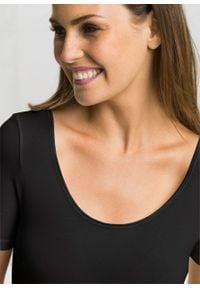 Body z krótkim rękawem, bawełna organiczna bonprix czarny. Kolor: czarny. Materiał: bawełna. Długość rękawa: krótki rękaw. Długość: krótkie