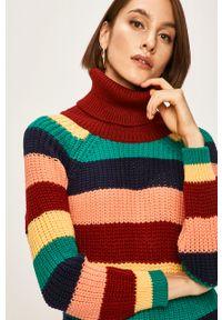 Wielokolorowy sweter ANSWEAR casualowy, na co dzień