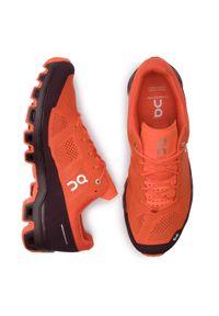 Pomarańczowe buty do biegania On z cholewką