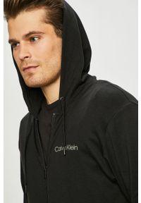 Czarna bluza rozpinana Calvin Klein Underwear na co dzień, casualowa