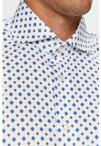 Biała koszula Emanuel Berg w kwiaty, elegancka