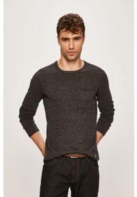 Czarny sweter Blend z okrągłym kołnierzem