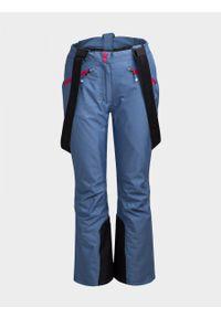 Niebieskie spodnie narciarskie outhorn melanż