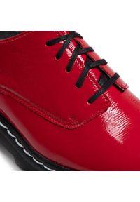 Maciejka - Oxfordy MACIEJKA - 04087-08/00-5 Czerwony. Okazja: na co dzień. Kolor: czerwony. Materiał: skóra, lakier. Szerokość cholewki: normalna. Styl: casual