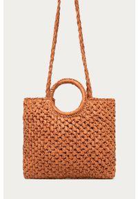 Pomarańczowa torba plażowa ANSWEAR wakacyjna, na ramię