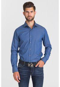 Niebieska koszula Joop! Collection na spotkanie biznesowe, biznesowa, na lato