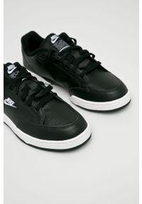 Czarne buty sportowe Nike Sportswear na sznurówki, z cholewką