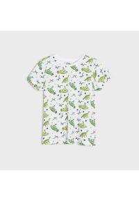 Sinsay - Koszulka z nadrukiem - Jasny szary. Kolor: szary. Wzór: nadruk