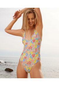 Wielokolorowy strój kąpielowy jednoczęściowy Etam w kwiaty