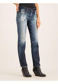 Diesel Jeansy 00SMN Granatowy Slim Fit. Kolor: niebieski. Materiał: jeans
