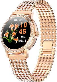 Złoty zegarek Microwear smartwatch