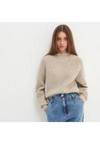 Beżowy sweter House melanż