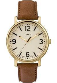 Brązowy zegarek Timex