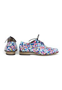 Półbuty Zapato do pracy, w kolorowe wzory, z cholewką, klasyczne