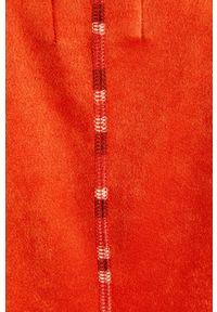 Desigual - Żakiet. Kolor: czerwony. Materiał: materiał. Wzór: gładki. Styl: klasyczny