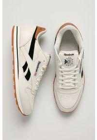 Białe sneakersy Reebok Classic Reebok Classic, z okrągłym noskiem