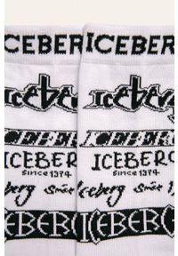 Białe skarpetki Iceberg z nadrukiem