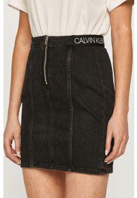 Czarna spódnica Calvin Klein Jeans casualowa, na co dzień, z nadrukiem