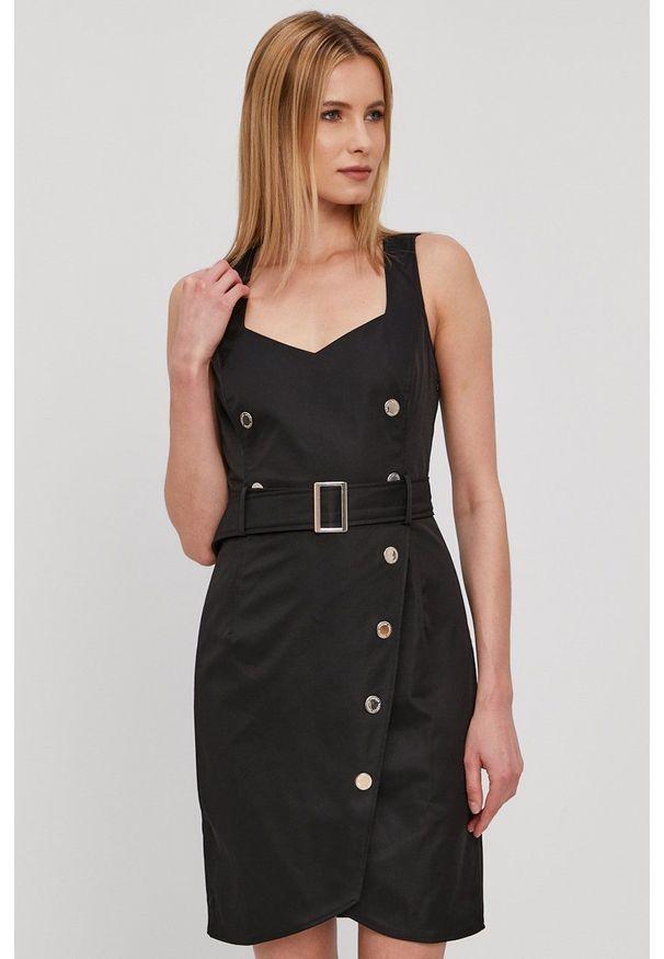 Morgan - Sukienka. Okazja: na co dzień. Kolor: czarny. Materiał: tkanina. Wzór: gładki. Typ sukienki: proste. Styl: casual