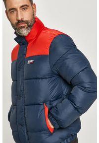 Niebieska kurtka Tommy Jeans na co dzień, casualowa, bez kaptura