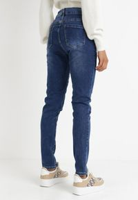 Born2be - Niebieskie Jeansy Slim Klelodia. Stan: podwyższony. Kolekcja: plus size. Kolor: niebieski. Długość: długie #7